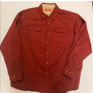Wrangler Western Men Button Front Shirt Size XL